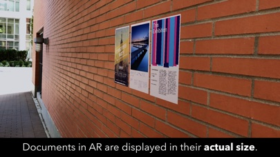Screenshot of printAR - PDF Documents in AR App