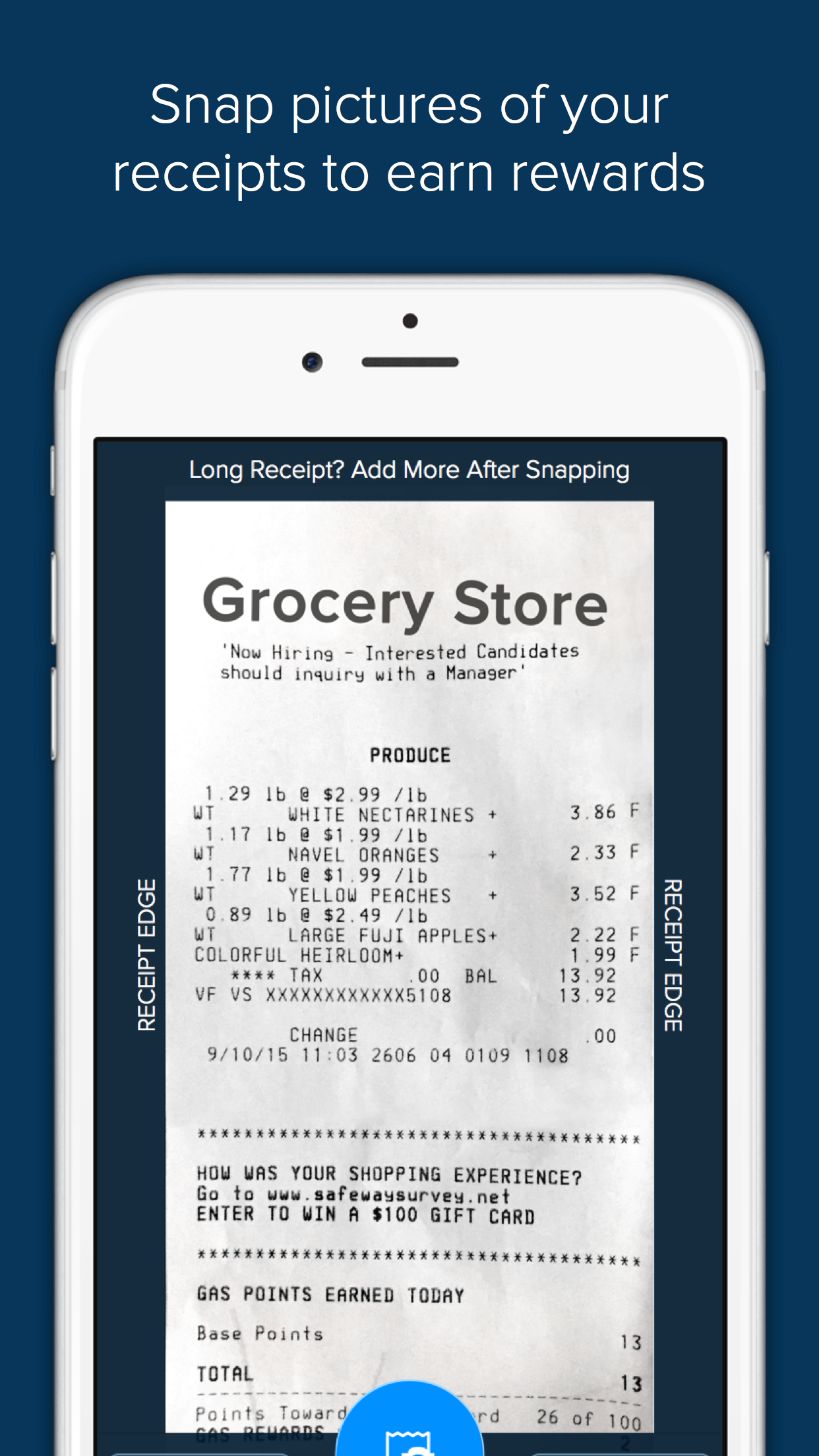 Receipt Hog - Get paid to shop Screenshot