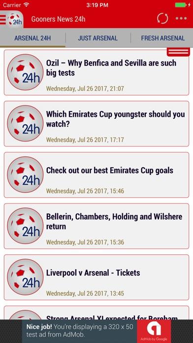 24h News for Arsenal-0