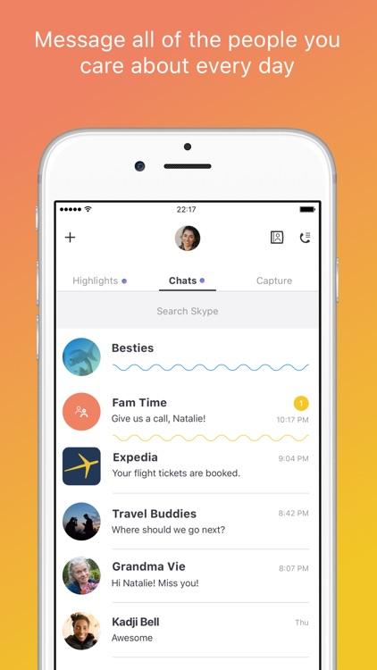 Skype for iPhone screenshot-0