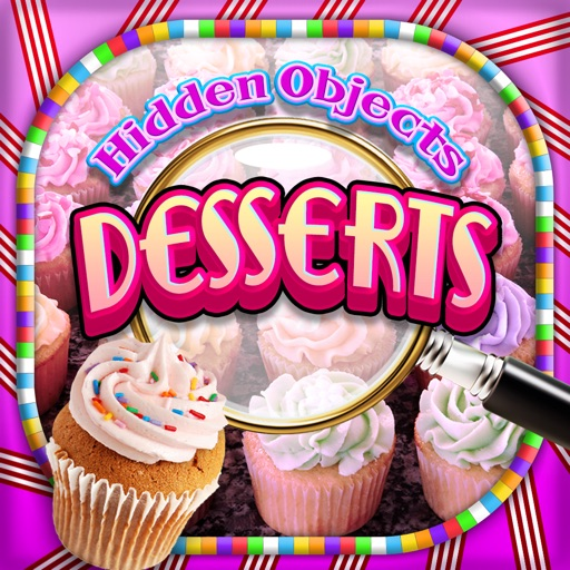 Hidden Objects Desserts & Candy Cupcake Object Pic