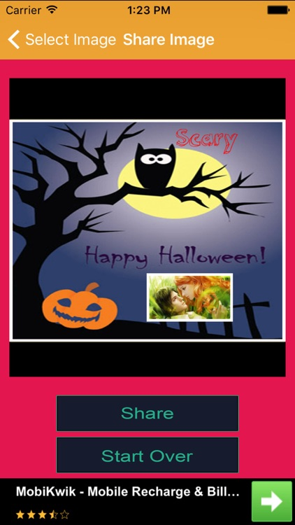 Halloween Greeting Card Wishes screenshot-3