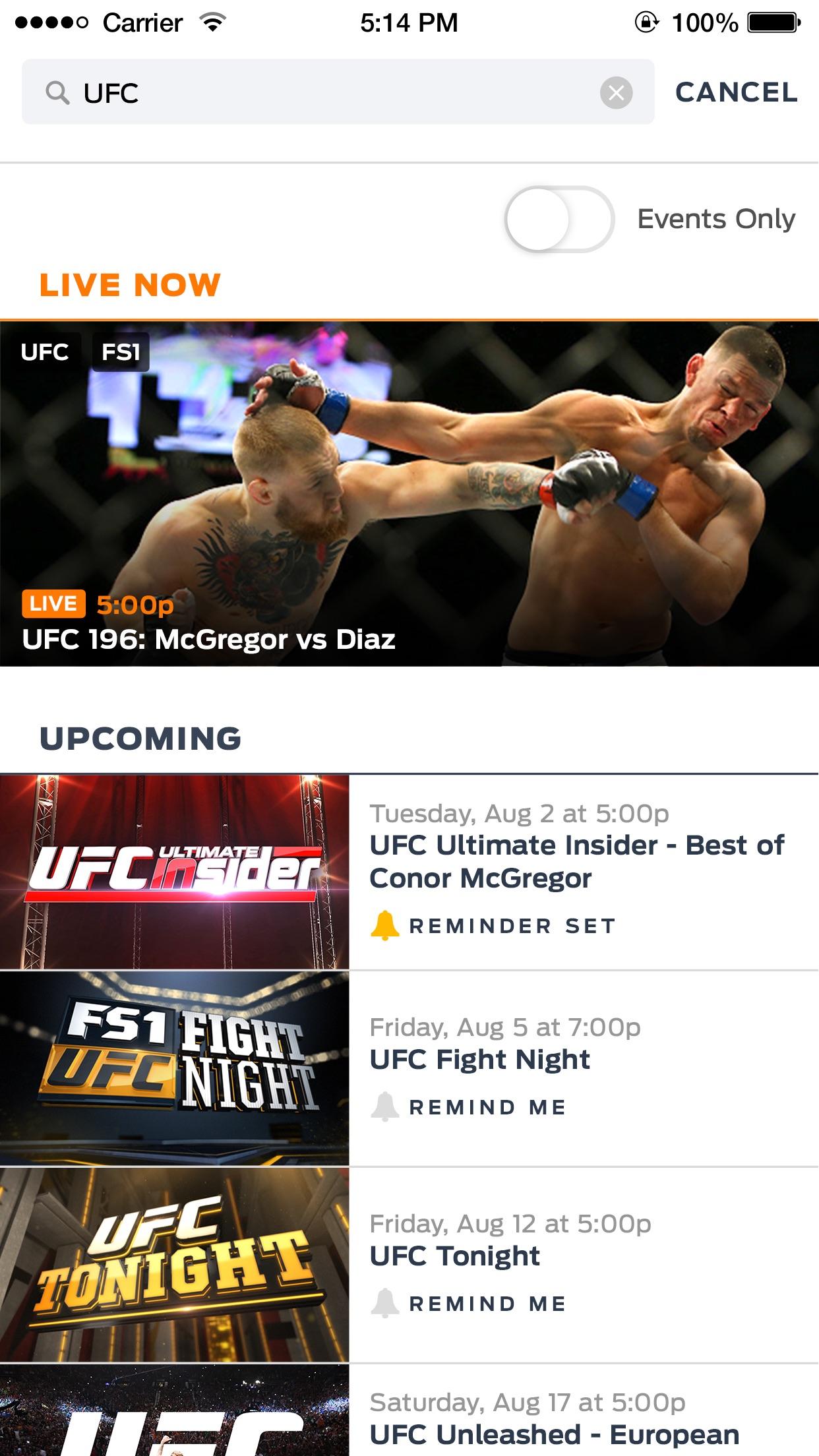 FOX Sports GO Screenshot