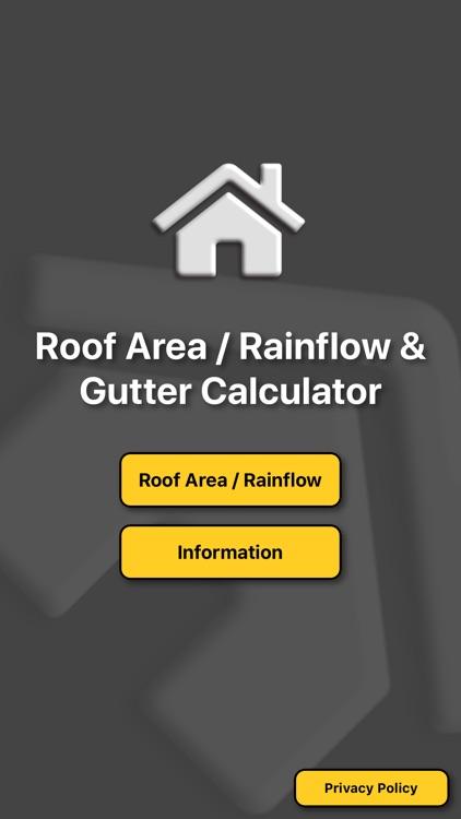Roof area rainflow gutter calc screenshot-3