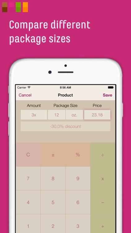 CompareMe Shopping Calculator