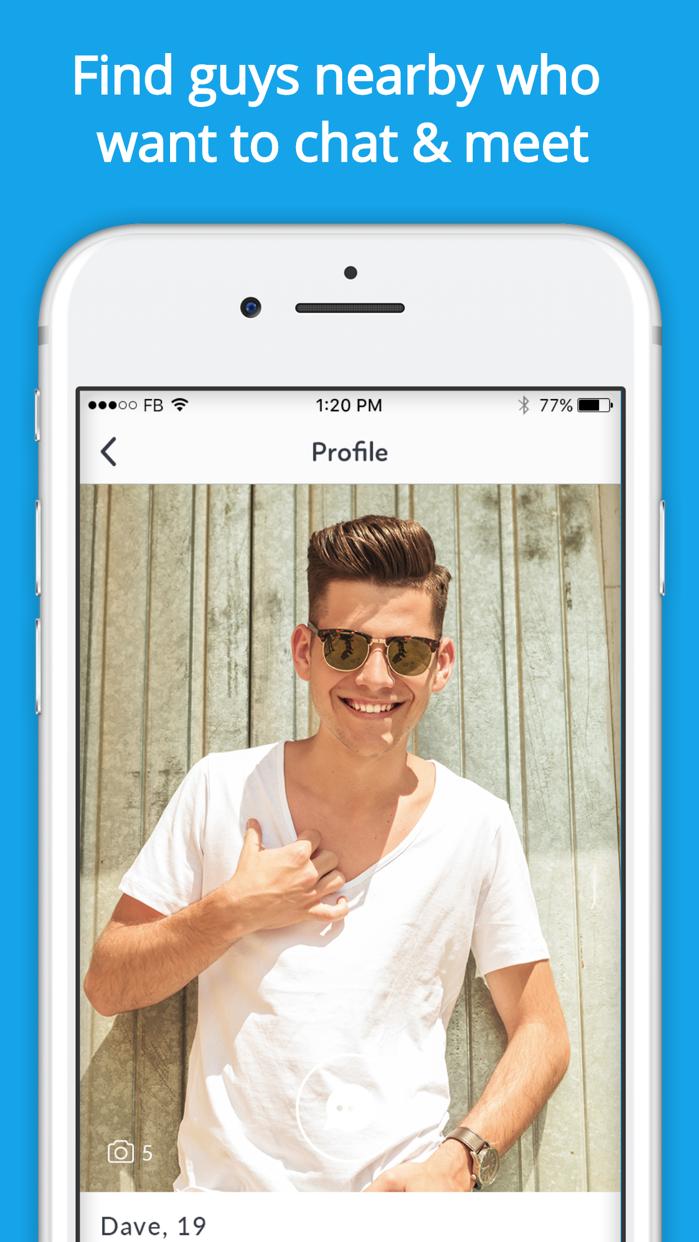 Gay Dating - Hookup & Chat App Screenshot