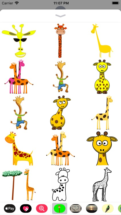 Silly Giraffe Sticker Pack screenshot-0