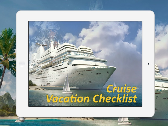 cruise vacation checklist on the app store