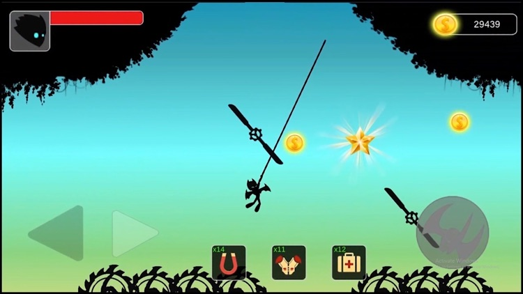 Stickman swing : Rope Swing screenshot-4