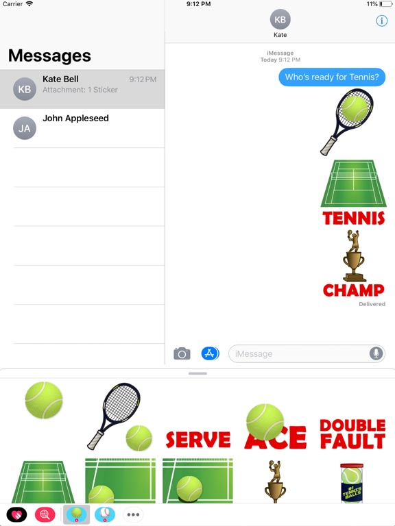 Animated Tennis Stickers screenshot 3