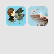 中西乐器学习套装-轻松学会弹钢琴和弹古筝