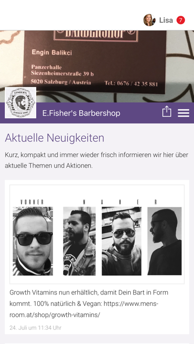 E.Fisher's Barbershop screenshot 1