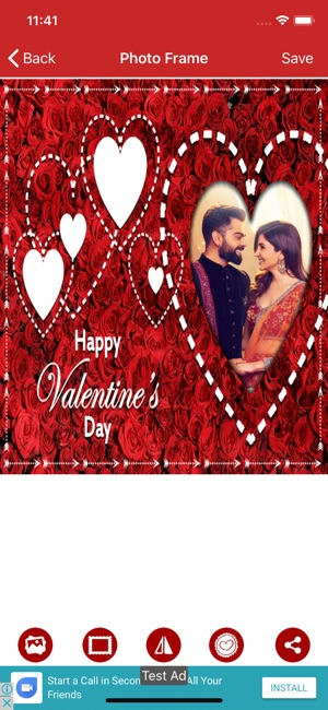 Valentine day photo frame-Love on the App Store