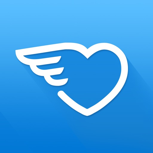 dating app with blue heart icon