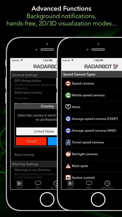 Radarbot Pro: SpeedCam Detector and Traffic Alerts screenshot-4