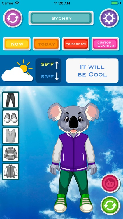 Weather & What to Wear Today