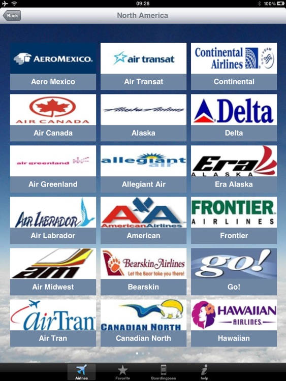 Airline Flight Check-In Americas for the iPad