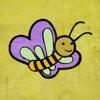 昆虫のカラーステッカー - 昆虫を写真に追加して色を変更