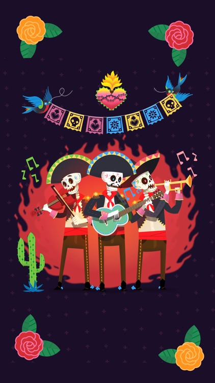 Day of the Dead Stickers Pro