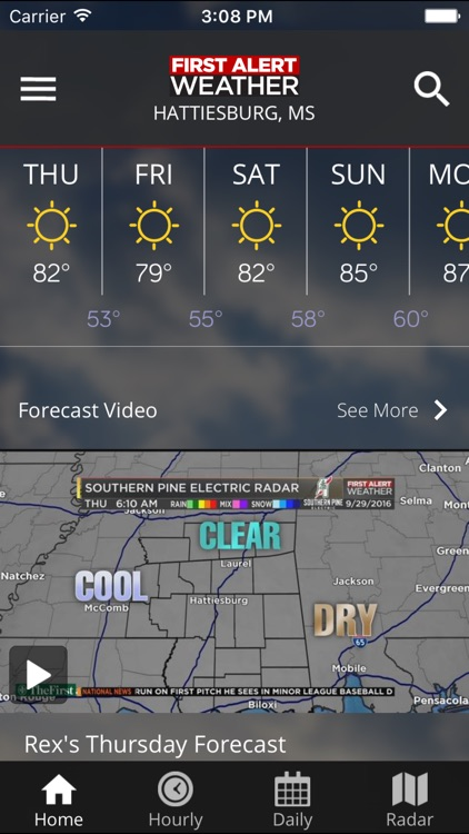WDAM 7 Hattiesburg Weather screenshot-0