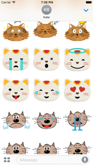 Cute Fun Cats Emoji Photo Stickers screenshot two