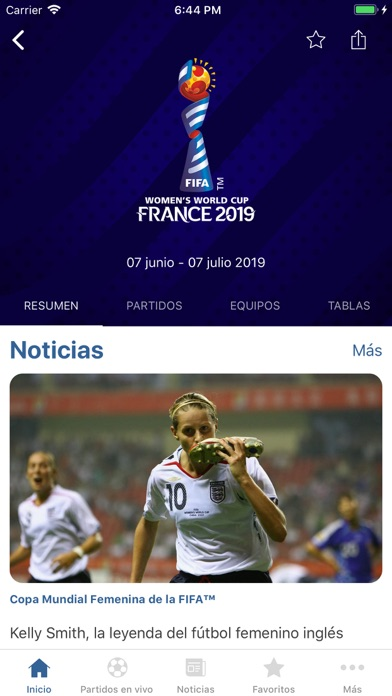 Screenshot for FIFA - Soccer News & Scores in Chile App Store