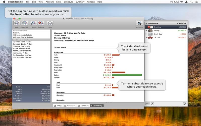 Screenshot #3 for CheckBook Pro