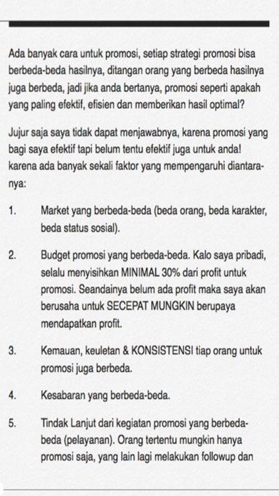 Cara Promosi - Profit Maksimal