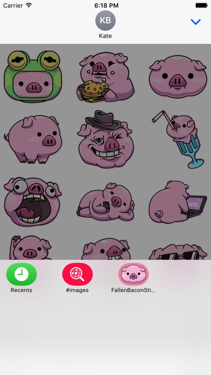 Fallen Bacon Stickers screenshot-3
