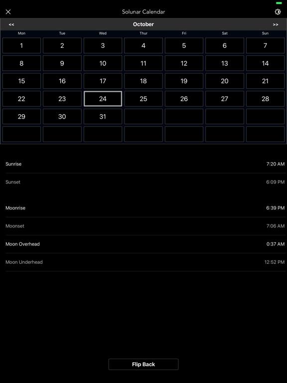 Moon Phase Calendar Pro screenshot 6