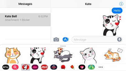 Screenshot for Angry Kitten iMessage Stickers in Russian Federation App Store