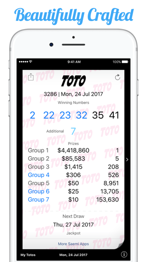 TOTO Results on the App Store