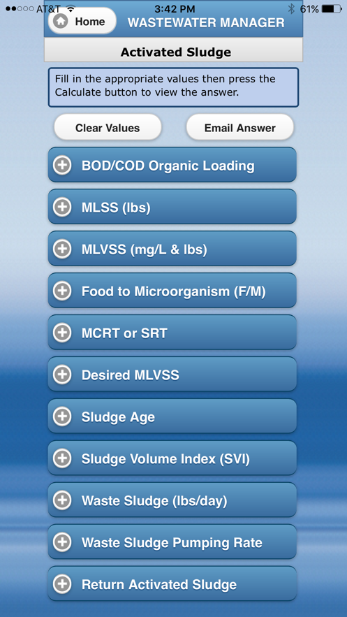 Wastewater Manager App 截图