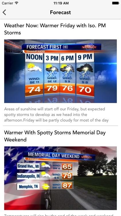 WCIA 3 Weather screenshot-3