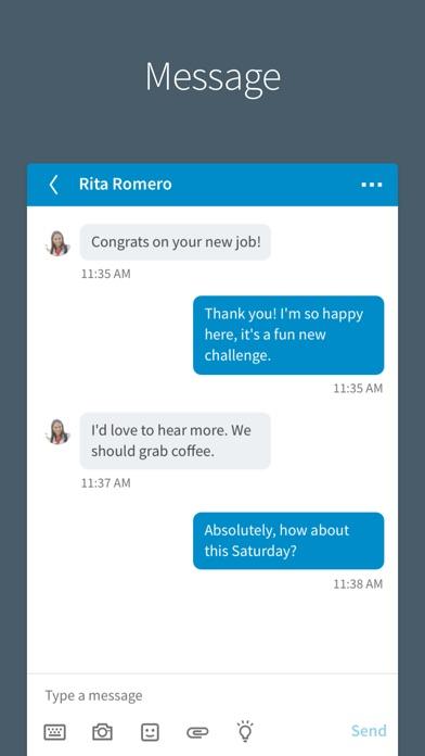 Screenshot of LinkedIn App