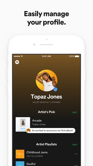 Spotify for Artists screenshot