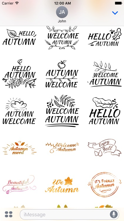 Autumn Greetings - Say it With Beautiful Stickers screenshot-3