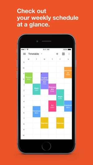 timespread timetable on the app store
