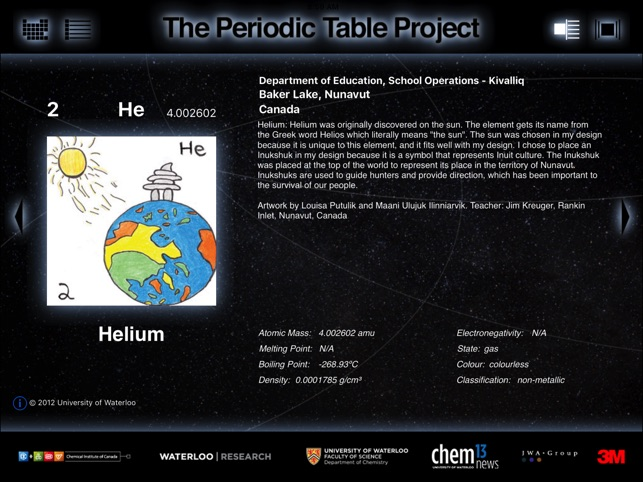 The periodic table project on the app store urtaz Image collections