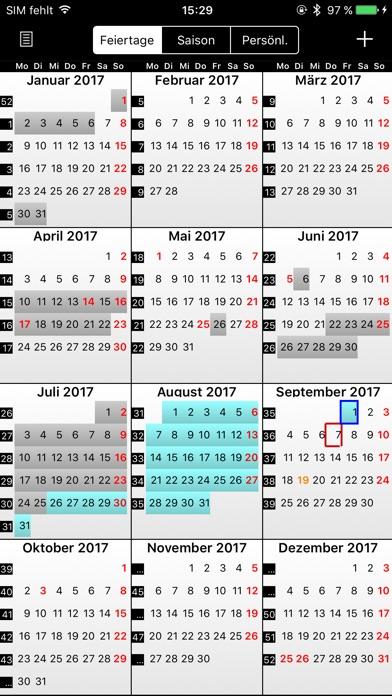 Screenshot for Feiertage und Ferien Kalender in Austria App Store
