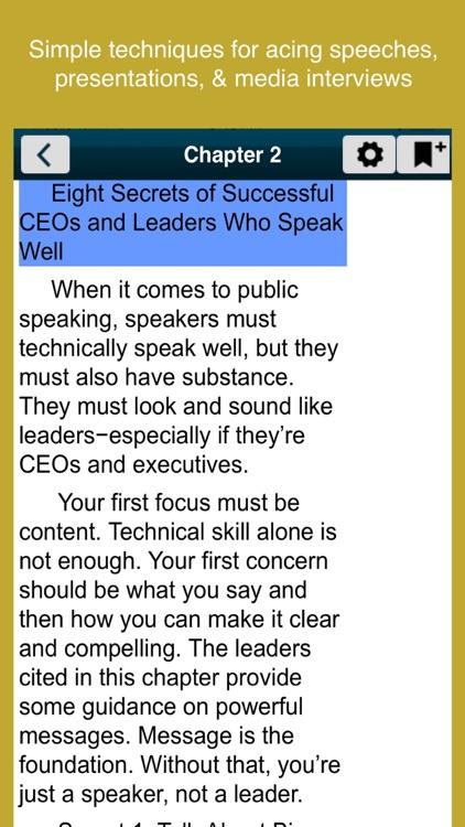 Speak Like a CEO (McGraw Hill) screenshot-3
