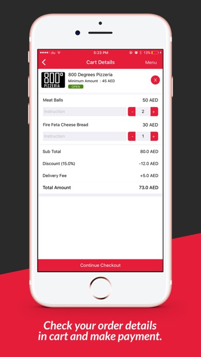 Screenshot for EatEasy - Order Food Online in United Arab Emirates App Store
