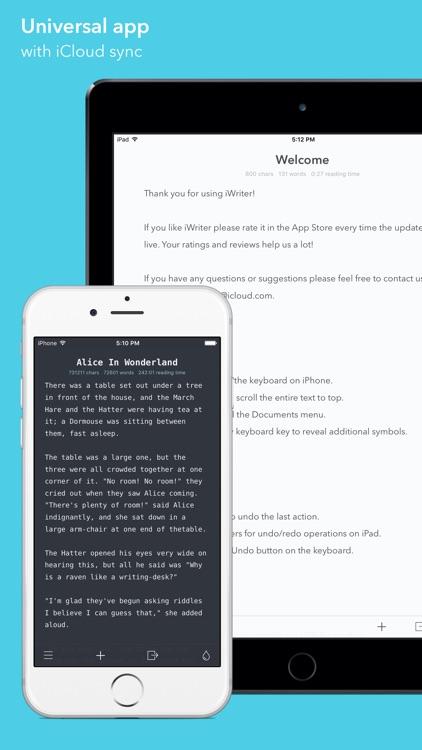 iWriter screenshot-0