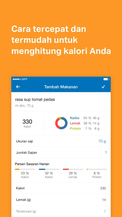 Screenshot for MyFitnessPal in Indonesia App Store