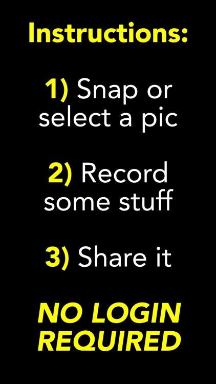 FACEVOX: Social Photo Recorder screenshot-3