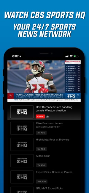 CBS Sports App Scores & Stats on the App Store