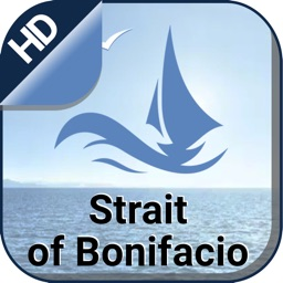 Strait of Bonifacio offline nautical fishing chart