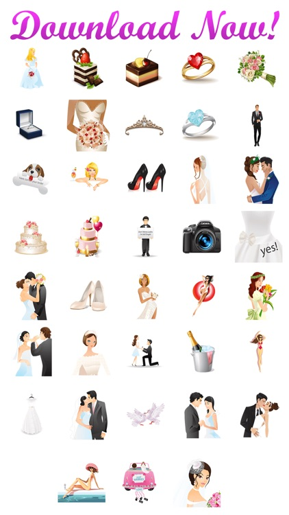 WeddingMoji - Wedding Emojis & Stickers screenshot-4