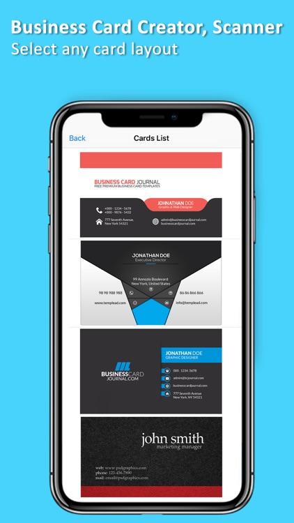 Business Card Creator, Scanner