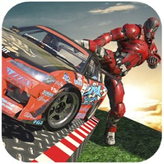 Activities of Robot Chase Car Stunts